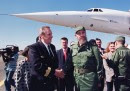 Cuban President Fidel Castro welcomes He