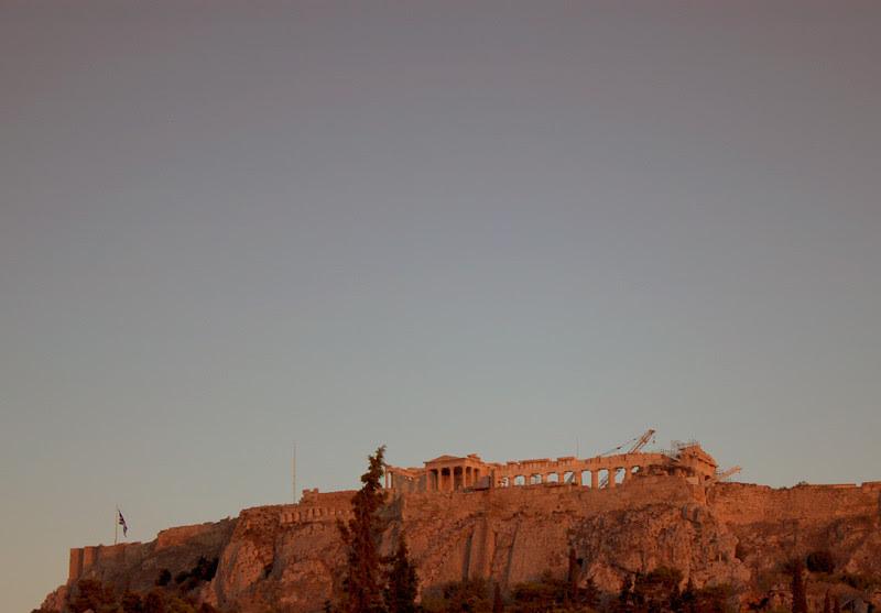 acropolis at dawn