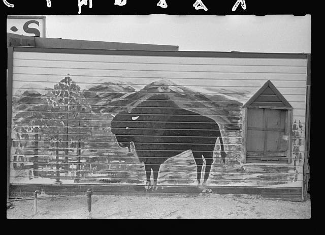 Folk art in North Platte, Nebraska, home of Buffalo Bill