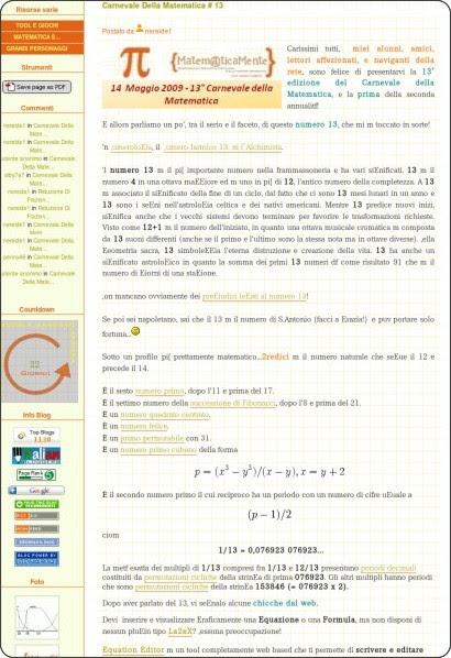 http://lanostramatematica.splinder.com/post/20536569#more-20536569