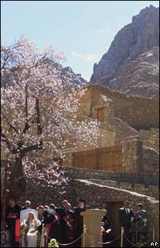 Pope at St Catherine's Monastery