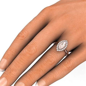 Marquise Morganite Engagement Ring Diamond Halo ? Rare