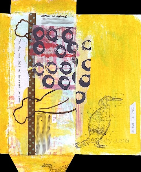 mail art memory handmade envelope