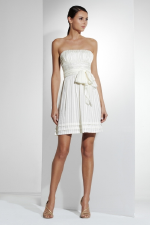 BCBG Strapless Striped Cocktail Dress