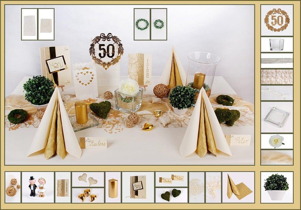 deko ideen zur goldenen hochzeit maison bois nauc. Black Bedroom Furniture Sets. Home Design Ideas