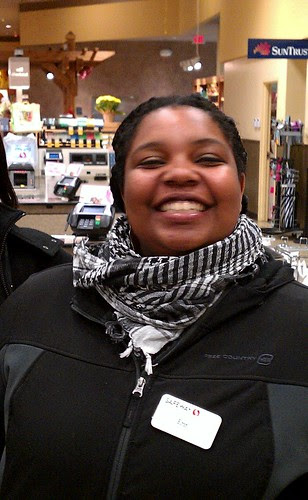 My checker at Safeway (Wisconsin Ave.), October 28, 2011 by tsweden