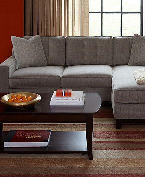 Clarke Fabric Sectional Sofa Living Room Furniture Sets &    Furni…