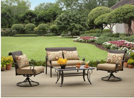 Walmartcom Better Homes And Gardens Riverwood 4 Piece Patio