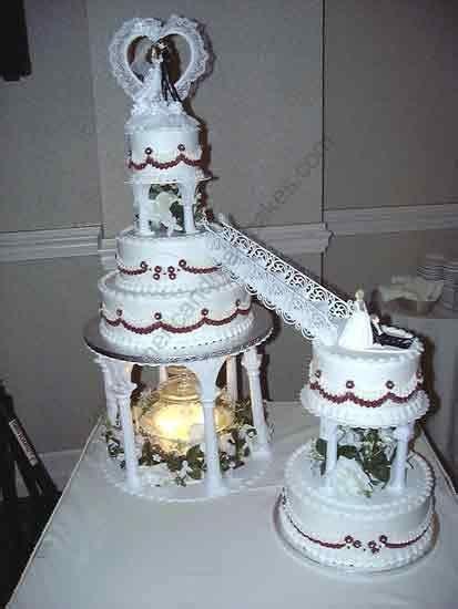 Wedding cake with stairs fountains 16   Wedding   Cake