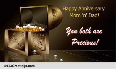 Anniversary Wish For The Parents. Free Family Wishes