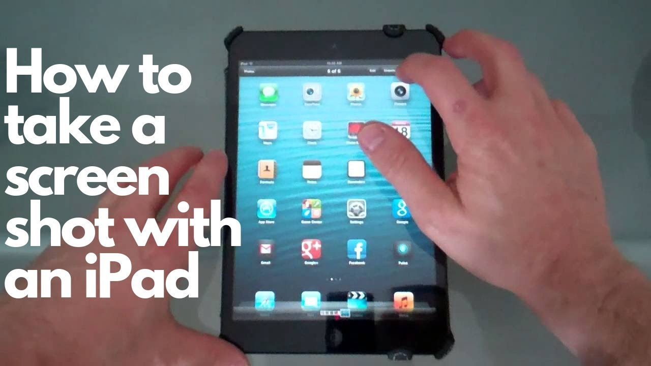 Taking a screen shot with your ipad mini tutorial - YouTube