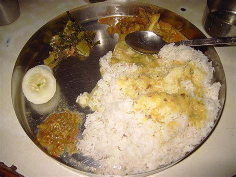 Dhal bath , traditional nepali food   Photo