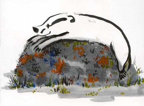 Badger Log: Hiking is Hard Work... by apple-pine