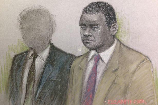 Court artist sketch of Kevin Wilson