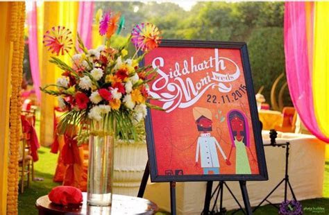Indian weddings # name board for entrance   Wedding masala