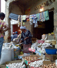 A small, informal shop in Ghana