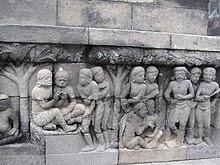 Salah satu Relief Candi Borobudur