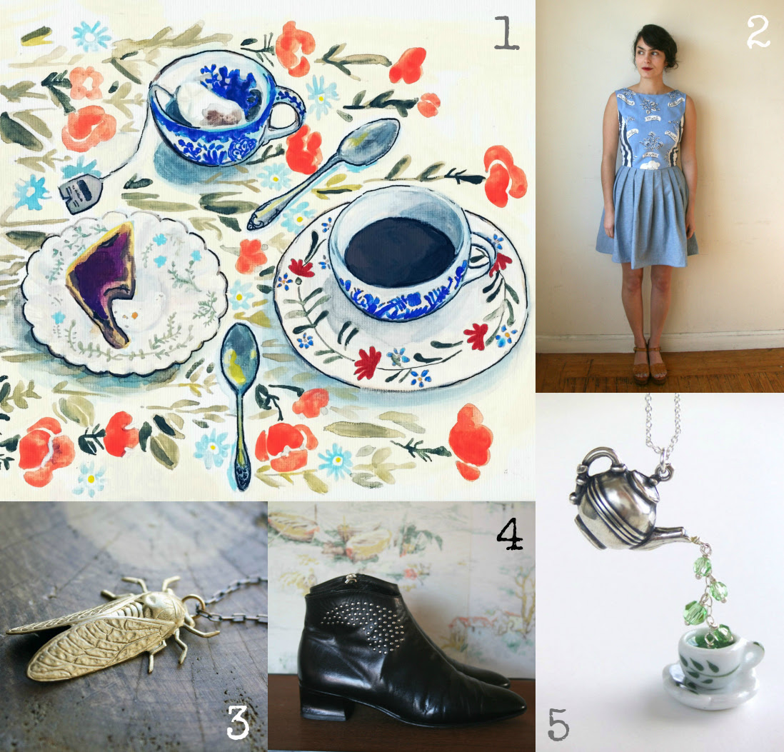 etsy tea and dresses