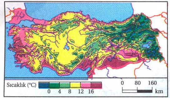 Türkiye Haritasında Iklimlerin Gösterilmesi