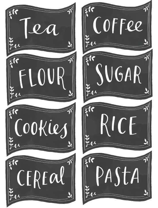Free Pantry Labels | Fab N