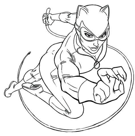 catwoman coloring pages  getcoloringscom