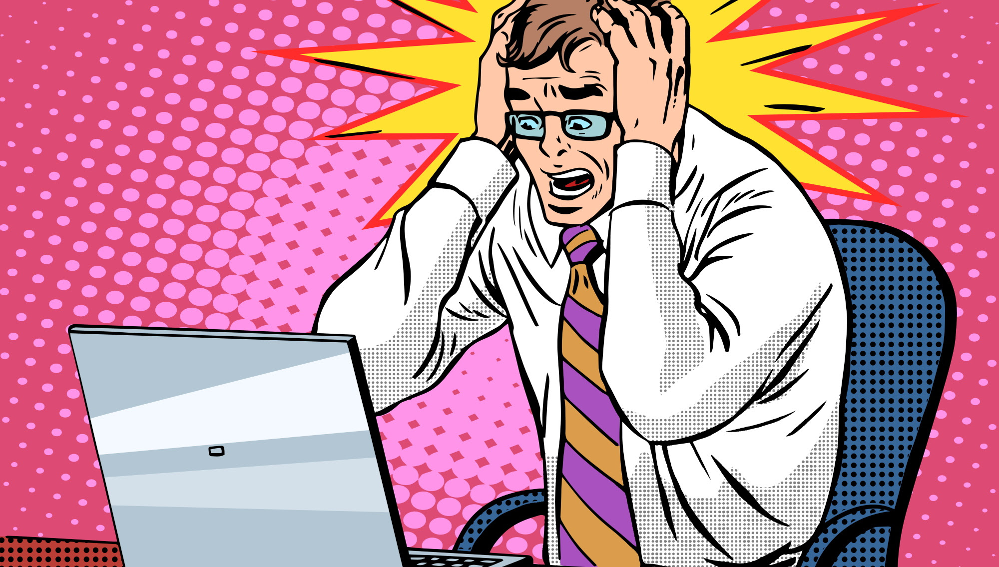 cartoon PC anger