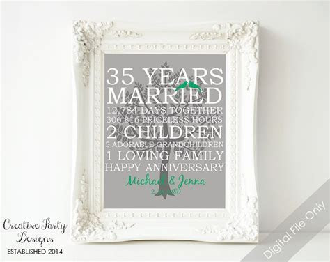 25  best ideas about 35th Wedding Anniversary Gift on