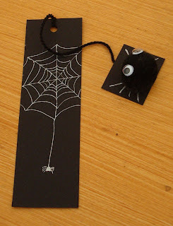 DIY Spider bookmarks