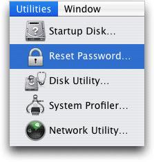 reset forgotten mac password