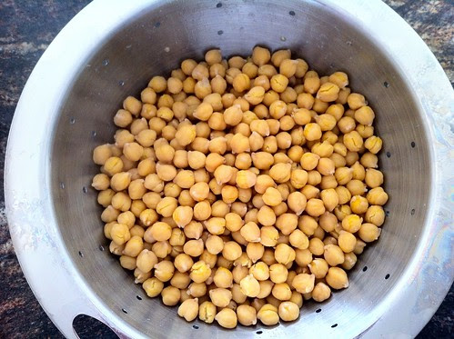 Drained Chickpeas in Collander