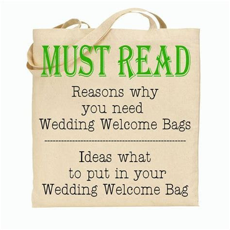 Why you Should have Wedding Welcome Tote Bags at your
