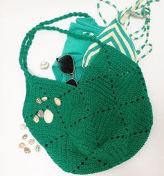 Free crochet pattern beach bag