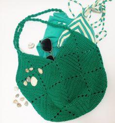 Free crochet pattern beach bag