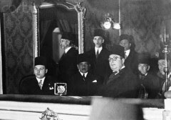 King Farouk in the inauguration of the international telecommunications congress 1938