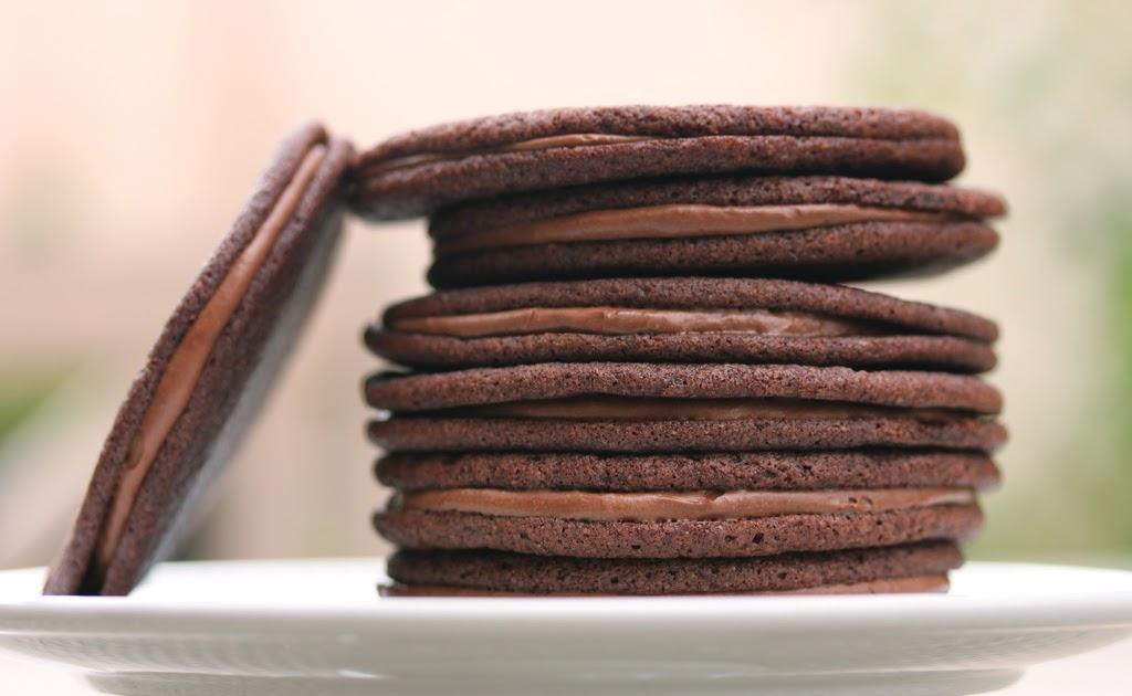 Chocolate Malt Sandwich Cookies   Karen's Kitchen Stories