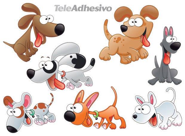 Vinilos Infantiles: Kit de 7 Perritos  2