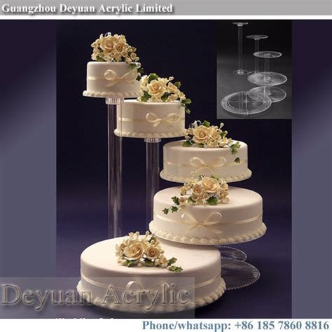 3 4 Tier Wedding Glass Cake Stand Acrylic Pedestal Stands