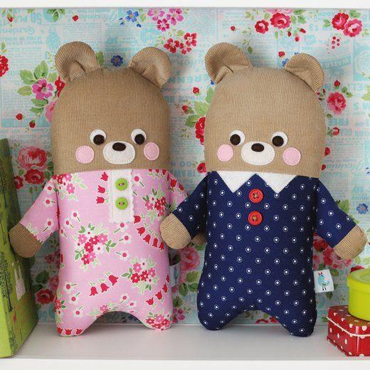 Pajama Bear Softies from Scrap Happy Sewing book