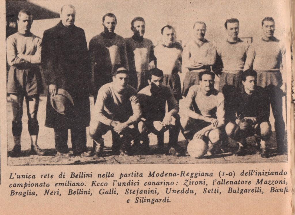 Il Modena 1944 nella formazione vittoriosa contro la Reggiana alla prima di campionato.