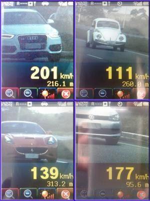 Motorista de Fusca é flagrado a 111 km/h em rodovia com limite de 100 km/h (Foto: Divulgação/PRF)