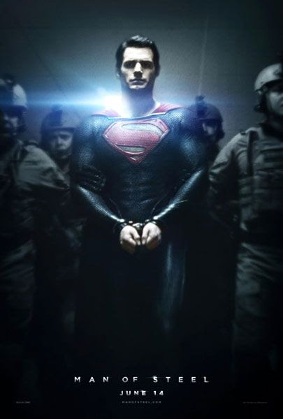 MAN OF STEEL theatrical poster.