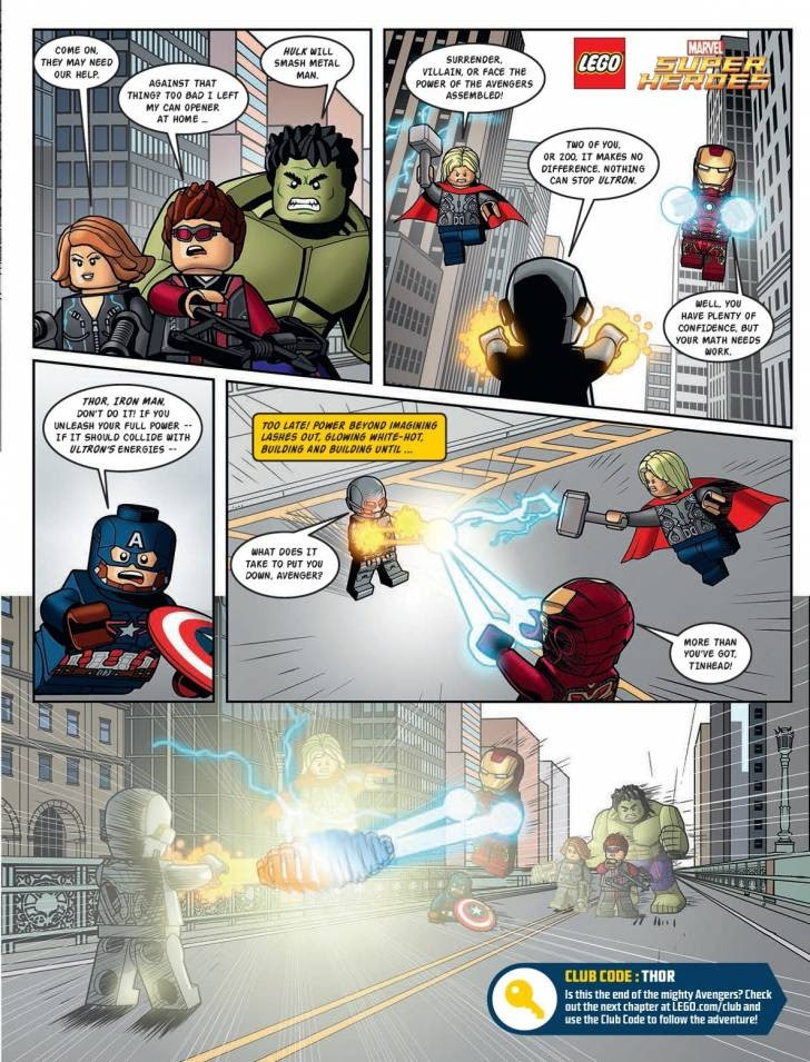"Cómic ""La Era de Ultron"" by Lego"