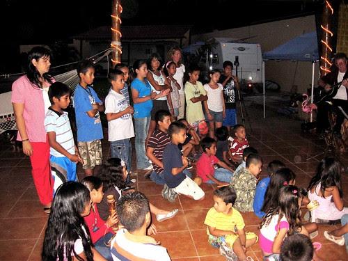 Music night audience