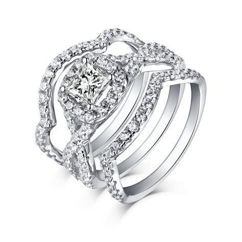 Tinnivi Princess Cut Created White Sapphire Sterling