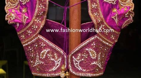 Designer Blouses for wedding Silk Sarees   Fashionworldhub