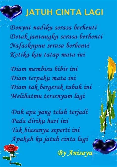 puisi cinta  anisayu jatuh cinta