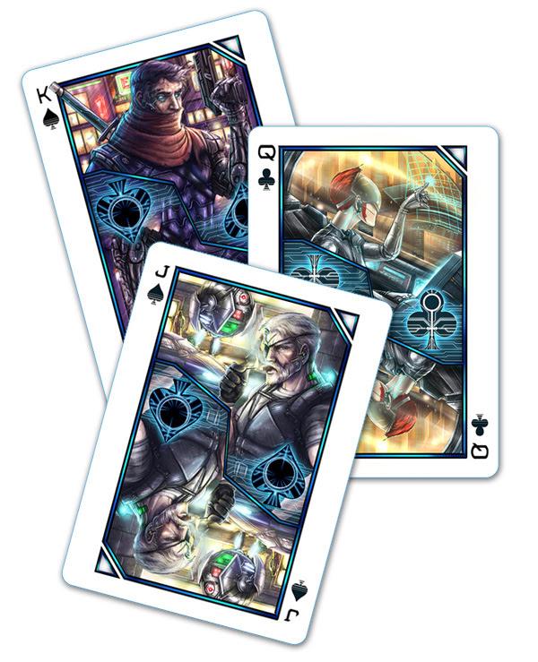 Cyberpunk Playing Cards on Kickstarter Ending Soon | Board ...