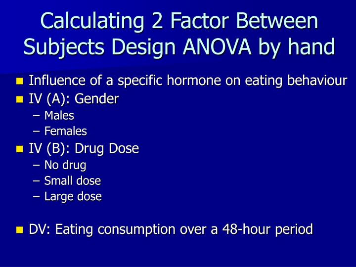 PPT - Two-Factor ANOVA PowerPoint Presentation - ID:3346858