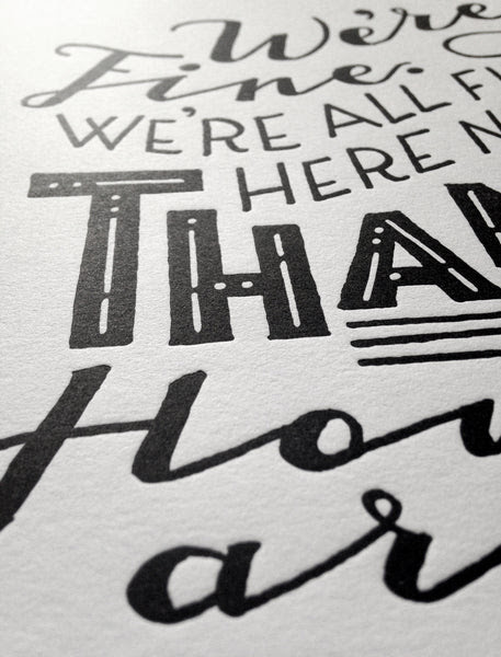 Han Solo Quote Letterpress Print Star Wars Poster Rather Keen