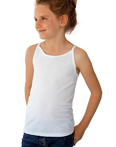 Girls cotton camis for city